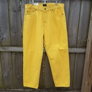 OBEY Jeans size 34 bender yellow zumies skater
